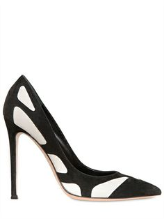 Gianvito Rossi Two-tone suede and leather pumps