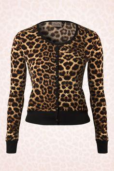 Banned - 50s Fierce Leopard Print Cardigan