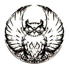 Demythify: Gotham City & Court of Owls Fracture Batman & DC New 52 Psyche With Owlman & Talon Owl Talons, Tribal Owl Tattoos, Gotham Villains, Owl Logo, Owl Tattoo Design, Nerd Art, Owl Art, 3d Prints, Tattoo Ink