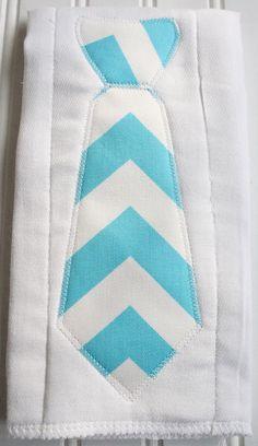 Tie Burp Cloth in Chevron