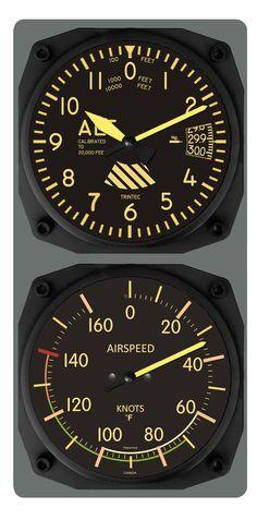 9060V/9061V - Vintage Altimeter Wall Clock/Airspeed Indicator Thermometer - $69.95 - www.trintec.com