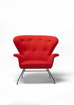 Fred Lowen; 'Aluminum Shell' Armchair for Fler, 1955.