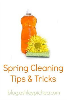 I don't like clean, so when it's time to spring clean my house, I like to have a few tips and tricks up my sleeve to help me get it done quickly and efficiently... Spring Cleaning Tips and Tricks