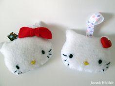 Chaveiros Hello Kitty em feltro da Caseando Felicidade