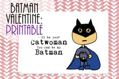 Batman Valentine.  Free printable.  For your geeky hubby/boyfriend.  #handmadeescapade