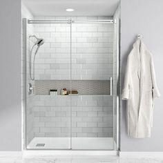 Bathroom Remodel Discover Studio x Single Threshold Shower Base Bathroom Remodel Shower, Bathroom Makeover, Bathroom Remodel Designs, Modern Bathroom, Bathroom Shower, Bathroom Design, Acrylic Shower Base, Bathroom Decor, Tile Bathroom