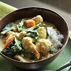 Coconut Ginger Curry with Vegetables and Halibut Recipe