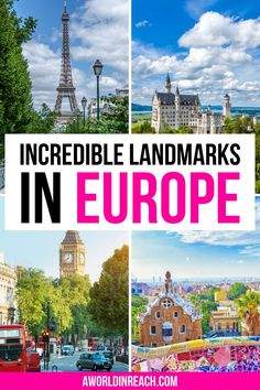 From the Eiffel Tower to Big Ben and the Colosseum to Stonehenge, Europe has no shortage of attractions for travelers looking to check things off their bucket lists. Are you planning a trip to Europe? Check out these famous landmarks in Europe to add to your itinerary! / famous Europe landmarks / iconic landmarks in Europe / famous Europe sights / things to do in Europe / Europe bucket list attractions / historic sights in Europe / Europe itineraries / places to go in Europe / Europe travel tip European Travel Tips, Europe Travel Guide, Europe Destinations, European Vacation, Travel Guides, Europe Europe, Malta, Monaco, Famous Landmarks