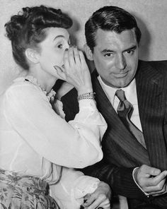 Cary Grant in a British interview with Miss Mary Stone.