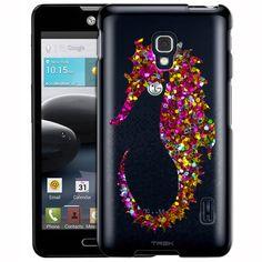 LG Optimus F6 Glitter Seahorse Clear Case
