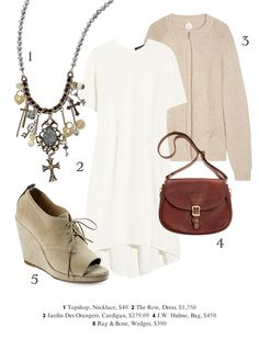Transforming a summer dress to a fall outfit.