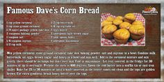 I love Famous Dave's corn bread!  I can't wait to make them at home.  Going to try them for Thanksgiving.