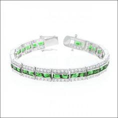 Emerald Tennis Bracelet #J5101 (Item number: 145, End Time : Feb. 20, 2015 17:16:00) - 2haifa.com