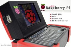 3D Printed Raspberry Pi Laptop More details:  http://3dprintboard.com/showthread.php?1143-Raspberry-PI-and-3D-Printing-Merge-3D-Printed-Computer