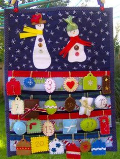 Advent calendar for Alex / Calendário de Advento para o Alexandre by Cards By Paula, via Flickr
