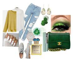 """Eva green"" by pamelasiswana on Polyvore featuring Topshop, Joseph, Gap, Roja Parfums, Chanel, Fuji, Olivia Burton and Christopher Kane"