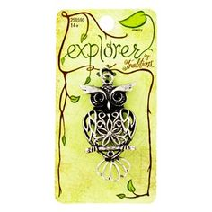 Explorer by Traditions Antique Silver Filigree Owl Pendant | Shop Hobby Lobby