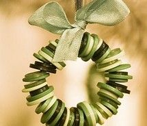 DIY christmas ornaments buttons