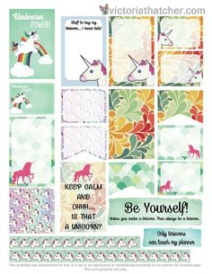 FREE Unicorns Planner Printable by Victoria Thatcher