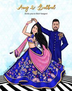 Wedding Invitation Card Design, Indian Wedding Invitations, Invites, Wedding Ceremony Signs, Wedding Cards, Wedding Couple Cartoon, Wedding Caricature, Bridal Portrait Poses, Wedding Posters