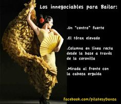 La postura de la bailarina de flamenco