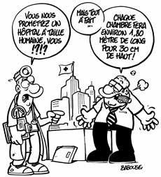Economie de la Santé, Humour, Hôpital, Babouse, Dessin, Illustration