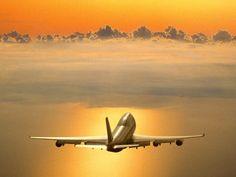 Airplane Sunset Wallpaper HD 07506 - Baltana