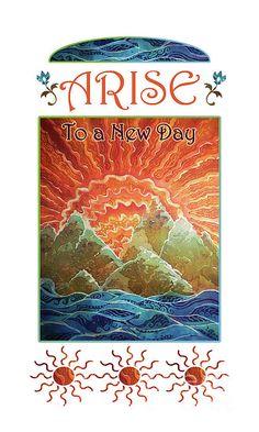 Sunrays - Arise New Day by Sue Duda Fish Ocean, Ocean Art, Batik Art, Marine Environment, Acrylic Canvas, Art Music, Large Prints, Wood Print, New Day