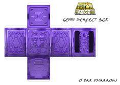 Gemini Saga Surplice Cloth Box papercraft. Saga de Gêmeos Espectro Caixa de…