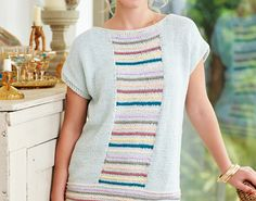 No summer is complete without a spot of ice cream, especially in the form of pastel shades on your new favourite tee! We love Fran's sleeveless design. The front and back are both the same, with clever shaping to create the armholes. The colourful stripes are created using intarsia. If you're new to this method, then this is definitely a great project to get you started – just remember to twist the old yarn and the new yarn together each time you change colour on a row.