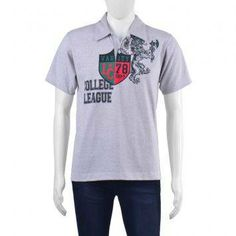F101 Cleve Collared T-shirt (Acid Gray)
