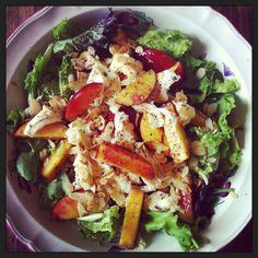 Summer Salad: Nectarines, Mozzarella and Nuts Salad with a Sumac ...