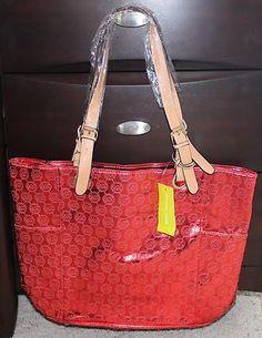 30d83b8a5dd83 Michael Kors Handbag Hot Red Mirror Metallic Bag Xl Large Tote Mk New  Micheal i like michael kors purse very much
