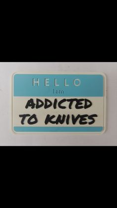 Addicted to knives patch