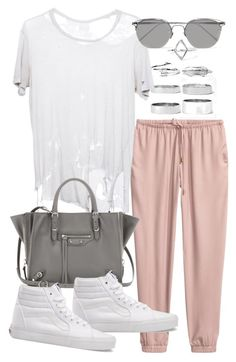 """""""Untitled #20111"""" by florencia95 ❤ liked on Polyvore featuring Boohoo, Linda Farrow, Balenciaga and Vans"""