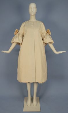 Christian Dior silk dress and coat ensemble 1950s