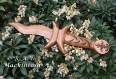 Hand carved Wooden Ritual Athame - 'Moon Athame' - Made in Scotland