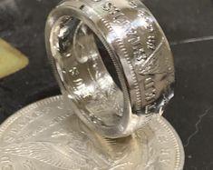 Handmade morgan silver dollar coin ring silver Men's ring anniversary gift Silver Dollar Coin, Morgan Silver Dollar, Diy Crafts And Hobbies, Mens Rings Etsy, Coin Ring, Mens Silver Rings, Skull Jewelry, Rings For Men, Antiques