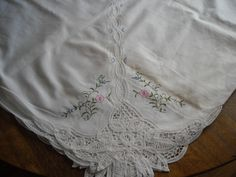 Gorgeous Vintage Lace & Embroidery by ContemporaryVintage on Etsy, $50.00