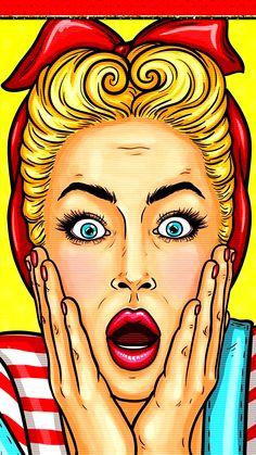 Bd Pop Art, Pop Art Girl, Girly Drawings, Art Drawings, Dessin Old School, Comics Vintage, Desenho Pop Art, Pop Art Wallpaper, Wallpaper Wallpapers