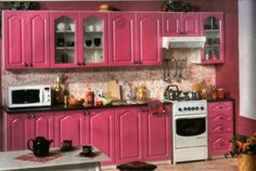 Kitchen Cabinets Design Pictures for Your Inspiration pink 2