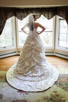 My Christina Wu wedding dress! #ChristinaWu #RealBrides #happilyeverafter