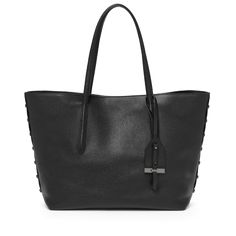 Madison Tote in Black Leather