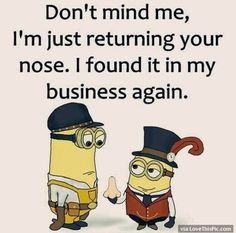 50 Hilariously Funny Minion Quotes With Attitude funny quotes quote jokes attitude lol funny quote funny quotes funny sayings hilarious minion minions sarcastic minion quotes Funny Minion Pictures, Funny Minion Memes, Minions Quotes, Funny Pics, Minion Humor, Funny Shit, Funny Love, Really Funny, Funny Stuff