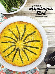 Vegan Asparagus Tart from Jazzy Vegetarian's Deliciously Vegan (egg-free, dairy-free, and gluten-free) >> Dianne's Vegan Kitchen