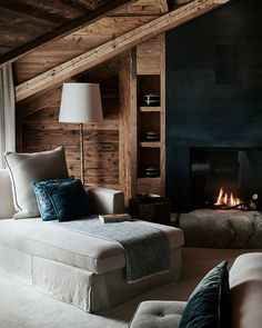 Modern Lodge, Hotel Interior Design, Home, Hotel Interiors, Hotel Interior Bedroom, A Frame Cabin, House Interior, Luxury Hotels Interior, Mountain House Decor
