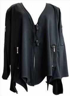 AKH Fashion Lagenlook Zipfel Jacke mit Zipper XXL Mode bei www.modeolymp.lafeo.de