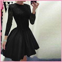 Wyhhcj 2018 Vestidos драпированные Женская летняя обувь платье Модная одежда с длинным рукавом О-образным вырезом платья женщин Bodycon кружева лоскутное вечернее платье Femme