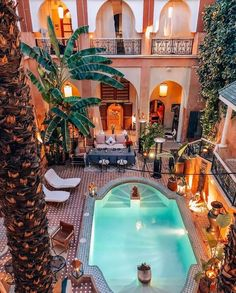 You come for a few days in Marrakech with family or friends, AnnoQri Tours guarantees you high quality transport services at the best price. Marrakech Morocco, Marrakesh, Moroccan Design, Moroccan Style, Morocco Travel, Moorish, Pool Landscaping, Pool Designs, Luxury Homes