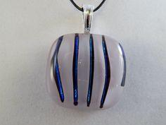 Striped Glass Pendant by ZacInTheBoxCreations on Etsy